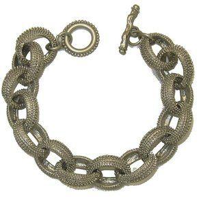 Fashion bracelet  Matte Silver Bold Chain NWT